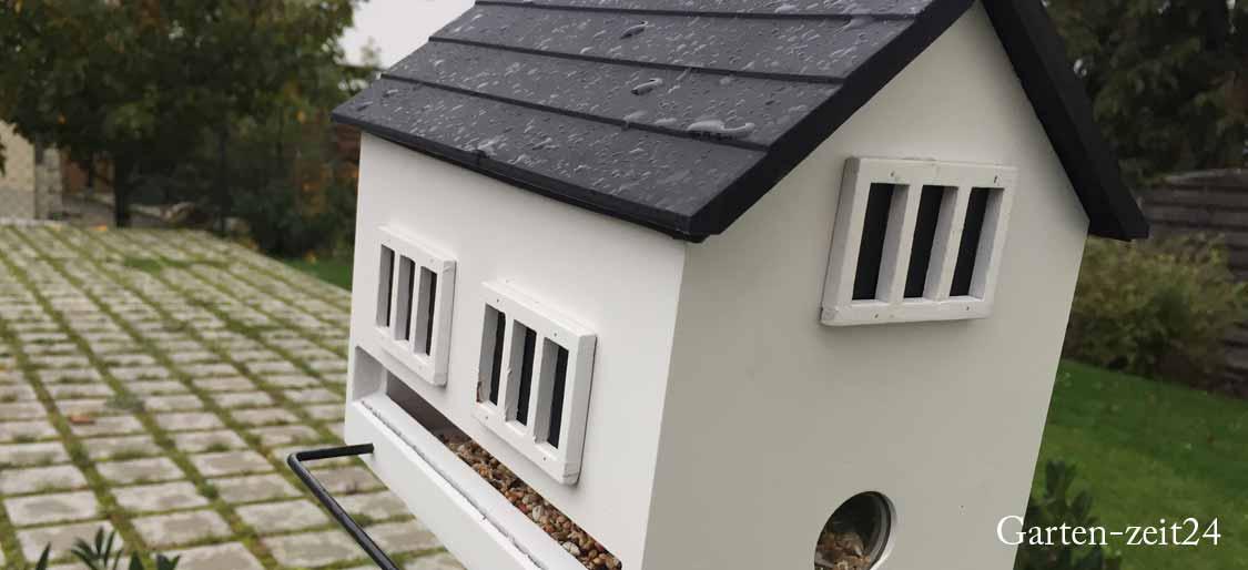 Vogelhaus kaufen - Modernes weißes Vogelhaus