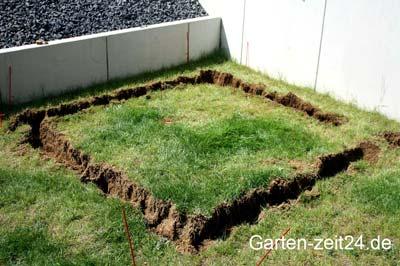 Ausgrabung für das Fundament